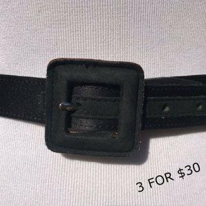 Calvin Klein Accessories - F Calvin Klein Womens Belt Black Leather Size M